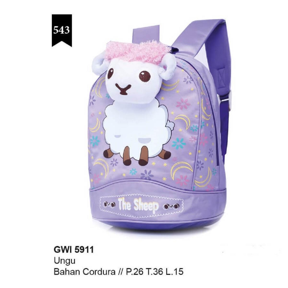 tas sekolah anak perempuan/tas sekolah anak tk/sd/tas ransel anak karakter saun the sheep original  by garsel