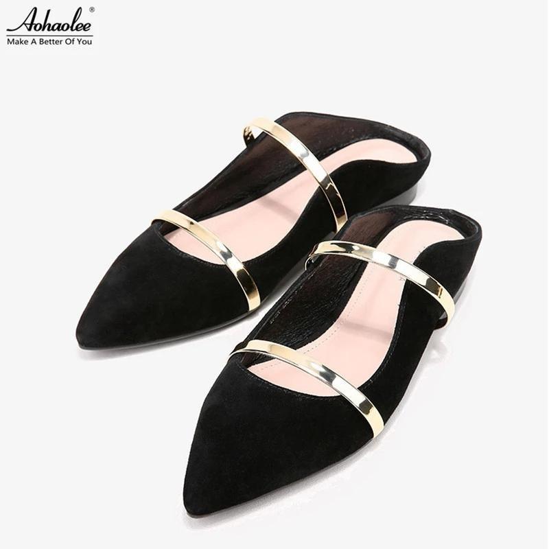 Detail Gambar MZ SHOES - Sandal sepatu wanita slop balet Bludru Terkini