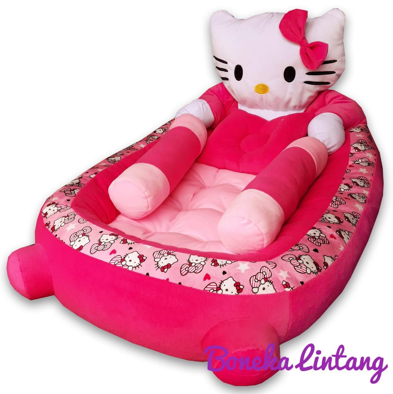 Kasur Bayi Set Bantal Guling Karakter Hello Kitty