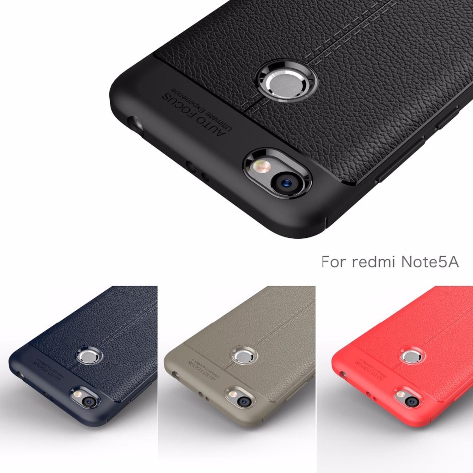 Case Auto Focus Xiaomi Redmi Note 5A Prime Leather Experience Slim Ultimate - 2 .
