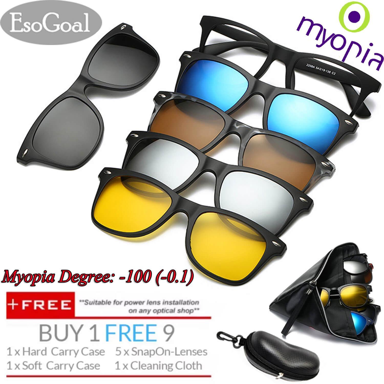 [Eksklusif Penjualan] Esogoal Miopia Kacamata Magnetik (-1.0 ~-3.0) klip