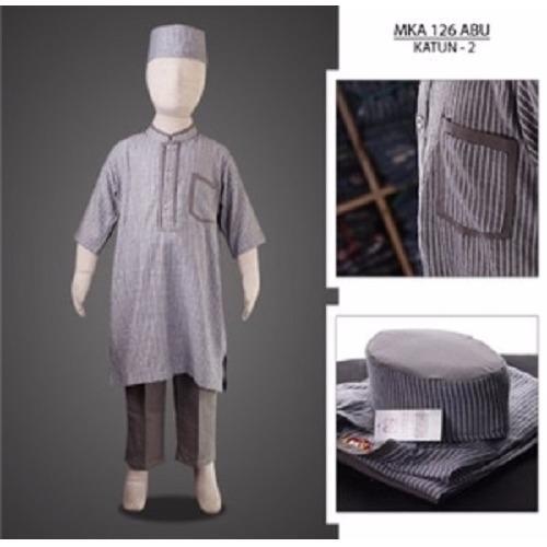 MKA126Abu(2-4tahun) baju koko anak grosir murah