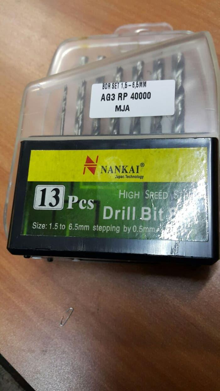Detail Gambar MATA BOR BESI HSS 13PCS NANKAI / DRILL BIT SET 13 PCS NANKAI Newest