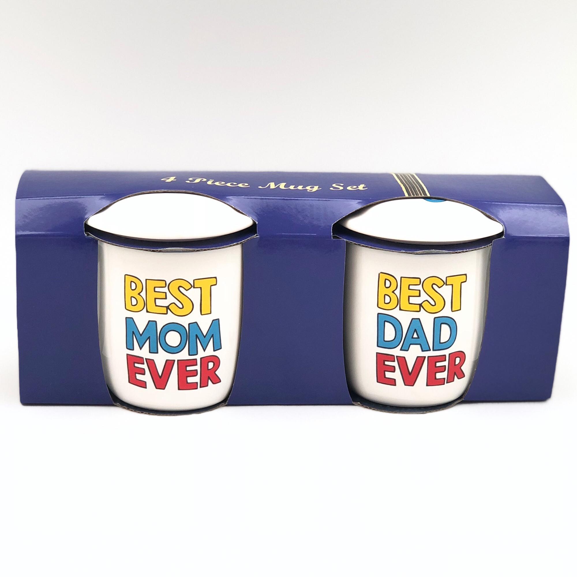 ... Mug Couple + Tutup / Best Mom Ever / Best Dad Ever / Mug Keramik -
