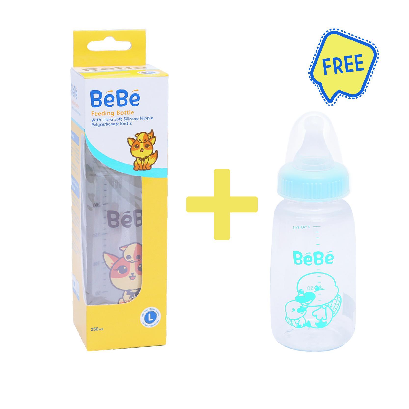 BEBE Botol Susu Bayi Premium PC 250Ml Cat Free Botol Susu Bayi Eco PC 150Ml Platypus