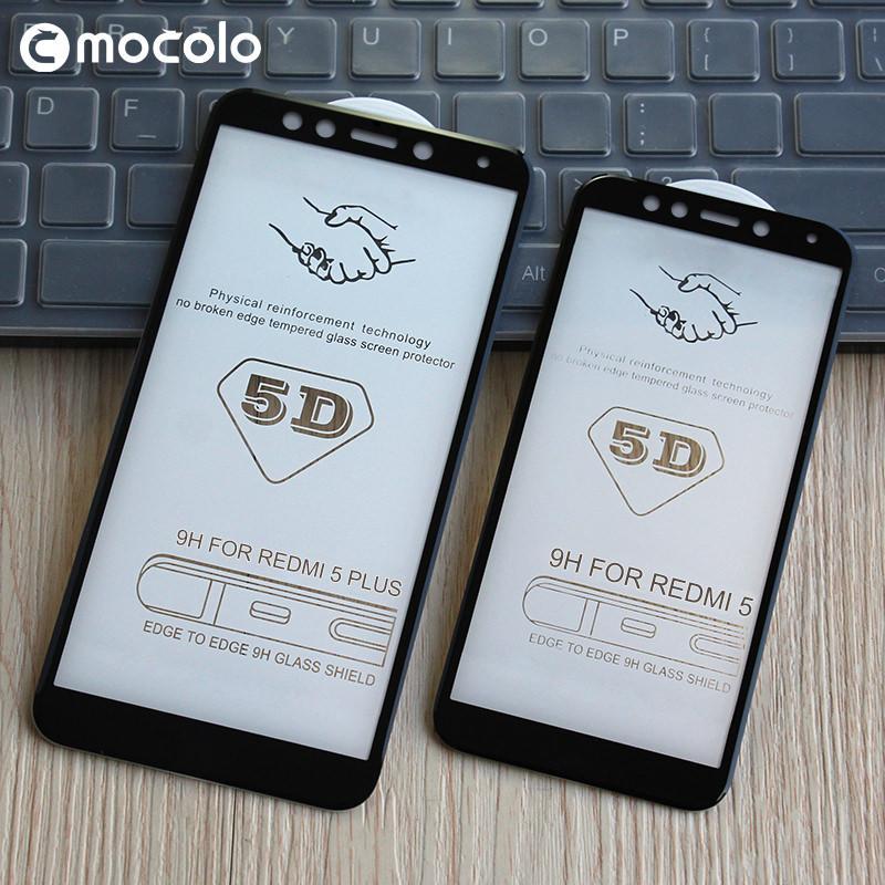 Detail Gambar Full Cover Tempered Glass 5D Screen Protector Xiaomi Redmi 5 Plus - Hitam Terbaru