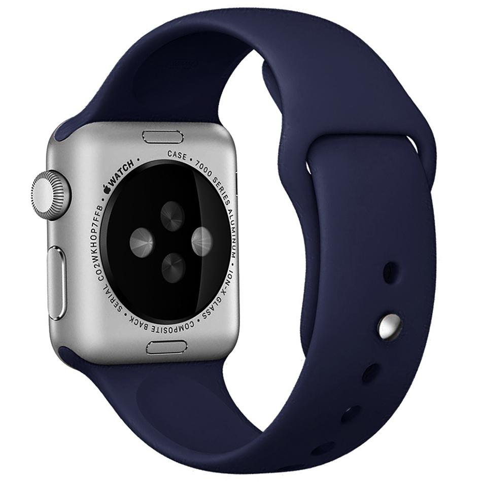 ... Tali Jam iwatch Apple Watch Sport Silicone Rubber 38mm - Navy - 5