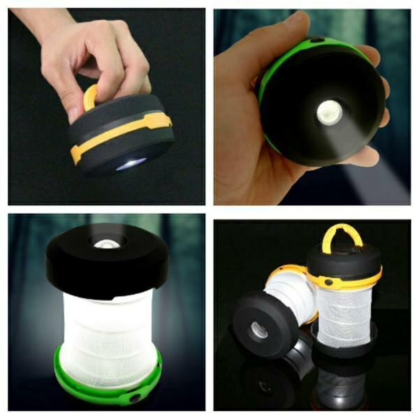 Super Murah! Flashlight Lantern/Lampu Tenda Lipat Terbatas!