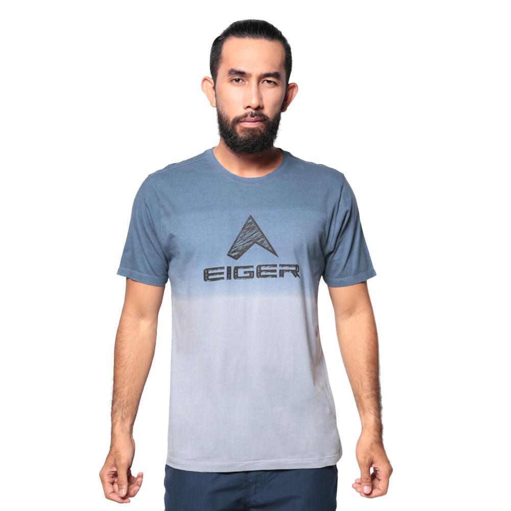 Eiger Logo Sketch OL T-shirt - Blue
