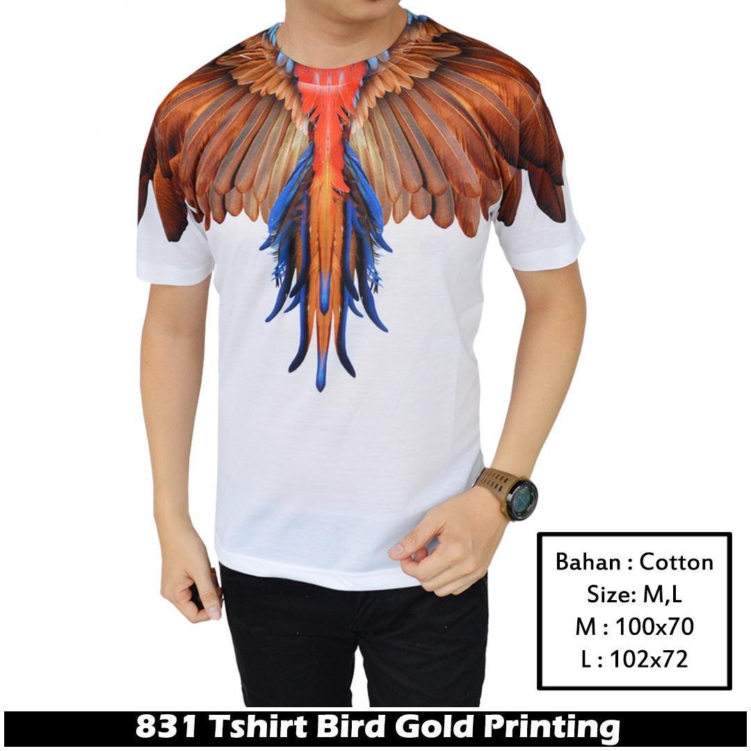 Diskon Ifh 831 Kaos Burung Kaos Sayap Burung Kaos Bird Wing Kaos Wing Bird Kaos 3D Marcelo Burlon Akhir Tahun