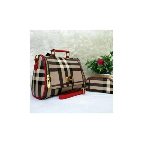 Obral Tas Yoyo Burberry Import Set Dompet Pouch Paket Murah