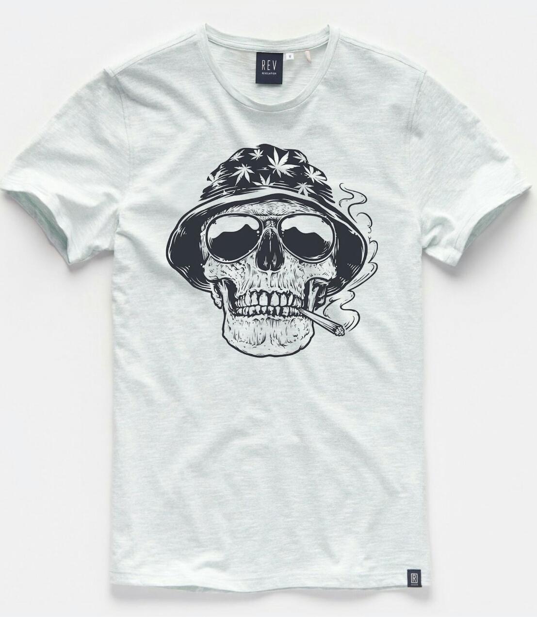 Kaos Distro Pria Wanita Friday Killer Skull   Bone Triple D ... f47e05cc79