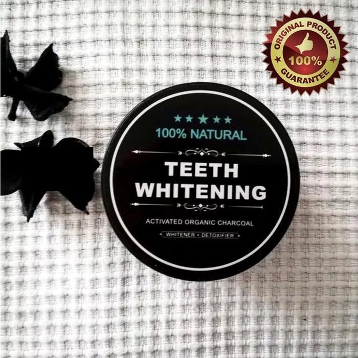 ... TERLARIS Teeth Whitening Charcoal Powder Activated - Pasta/Odol Gigi Pemutih Paling Ampuh - Obat