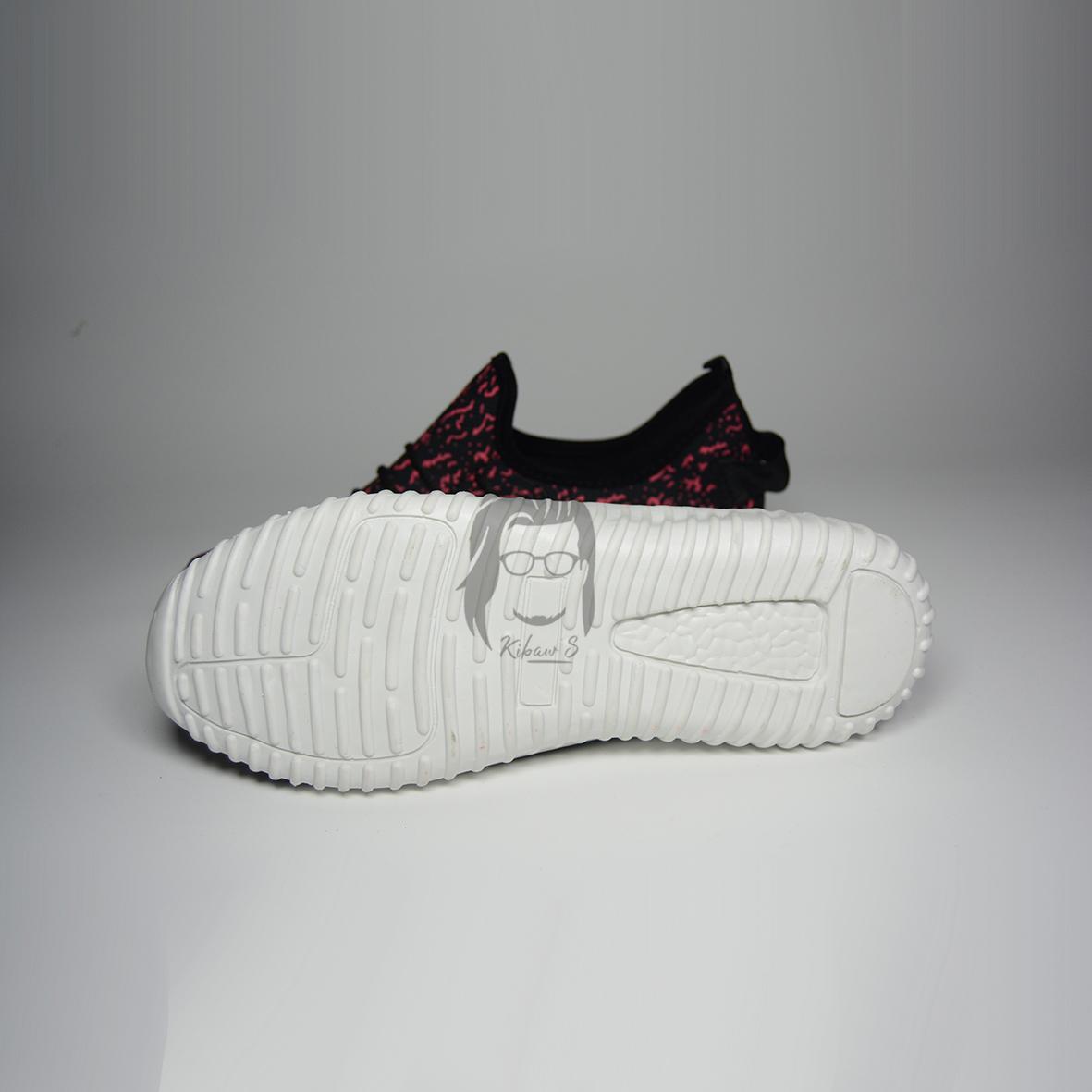 ... Kibaws sepatu yz merah hitam belang cocok untuk hangout dan olahraga - 3