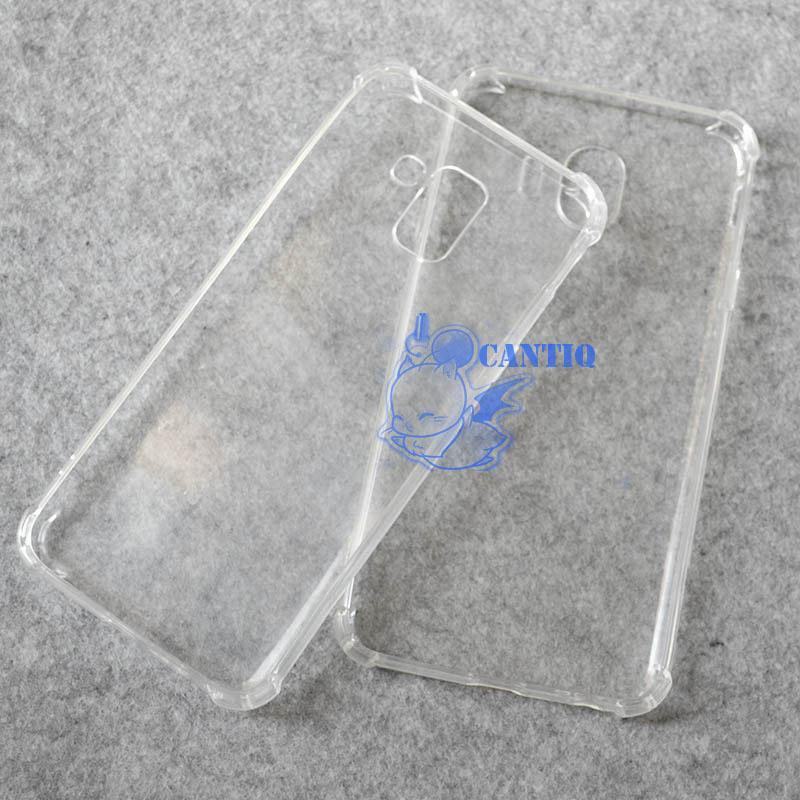 QCF Soft Case Anti Shock Anti Crack Samsung Galaxy J6 2018 / Silikon Casing Samsung J6 2018 / jelly Anti Crack Case Samsung J6 2018 / Case Anti Shock Samsung J6 2018 Casing Anti Crack - Bening - 3