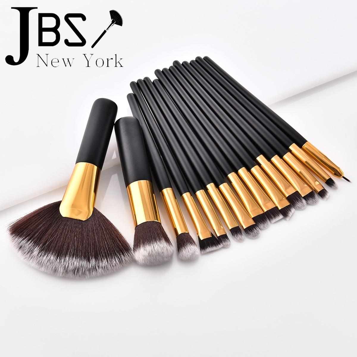 Fitur Jbs New York Kuas Makeup Brush 15 Set Make Up K021 12 Eyerush Gold K 046