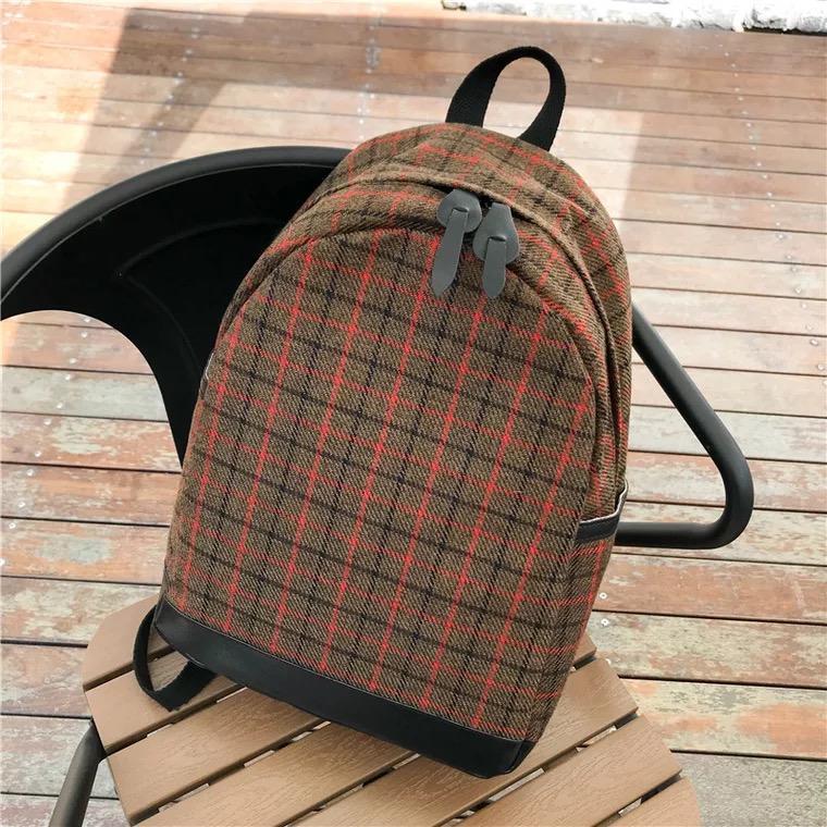 Features More584 Korean Tweed Backpack Tas Ransel Wanita Kain Wool