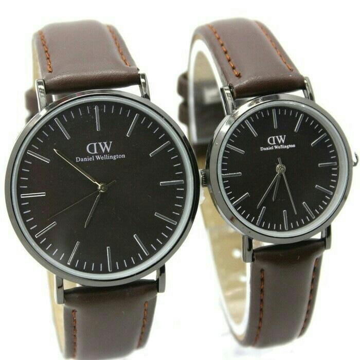 jam tangan couple dw murah / jtr 1093 coklat