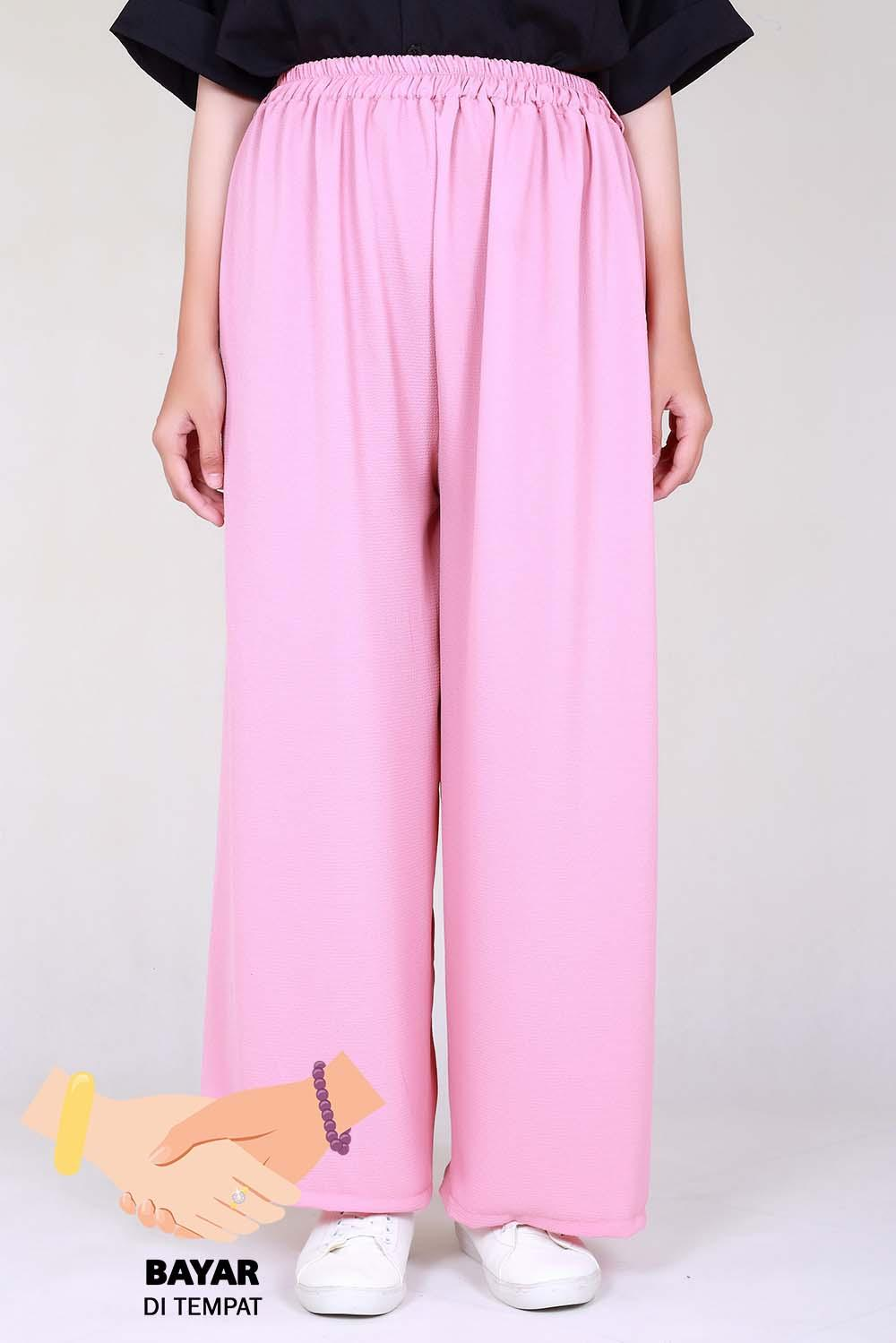 Cotton Bee Apparel Pallazo Cullote Pants - Dusty Pink