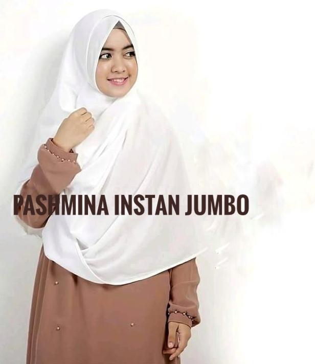 Fitur Jilbab Pashmina Instan Jumbo Bahan Diamond Italiano Dan Harga