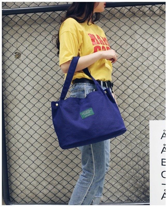 Tas kanvas wanita polos tote bag canvas murah - totebag handbag impor