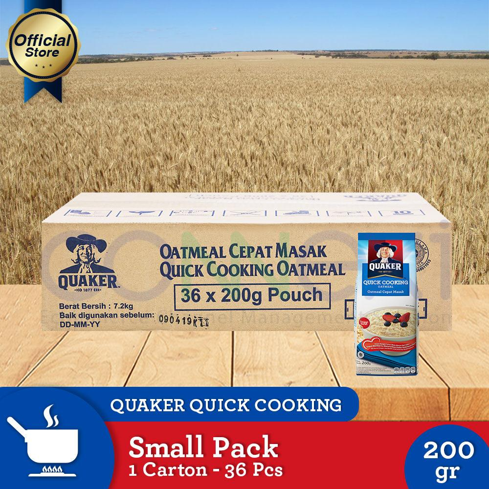 Dimana Beli Haverjoy Instant Havermout di Indonesia Harga Online Source · Quaker Quick Cooking Oatmeal Small Pack 200g 1 Carton 36 Pcs