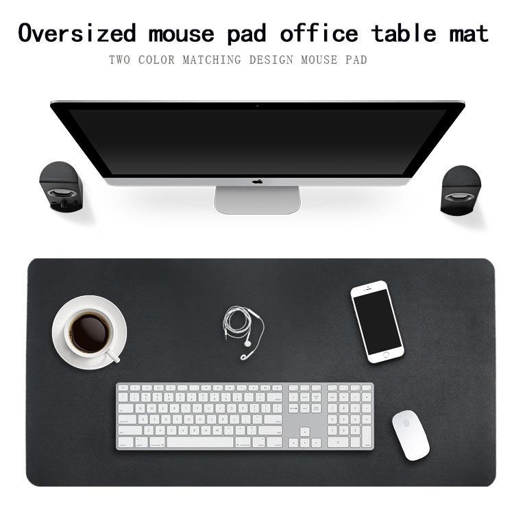 Detail Gambar Office Mouse Pad Desk Mat Bahan Kulit 60 x 120cm - Black/Red Terkini