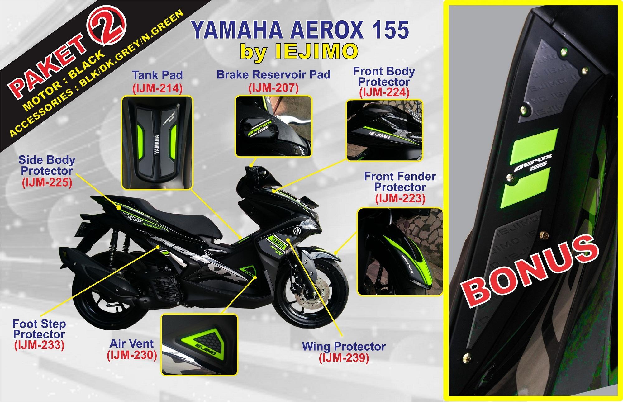 Fitur Paket Body Protector Yamaha Aerox 155 Aksesoris Dan Cover Jok Sport 4