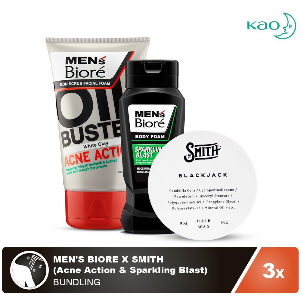 Mens Biore Body Foam Sparkling Blast Pouch 450ml Update Daftar Refreshing Cool 450 Ml Source X Smith Acne Action