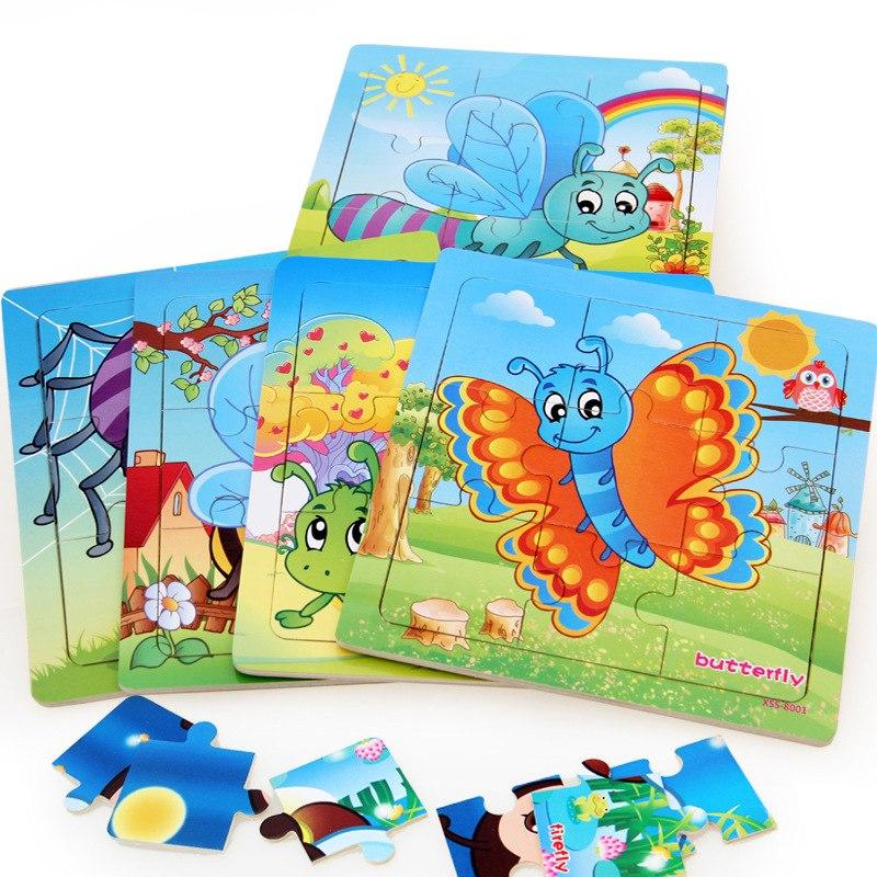 Kayla Org Mainan Edukasi Puzzle kayu gambar 9 keping (potongan puzzle)