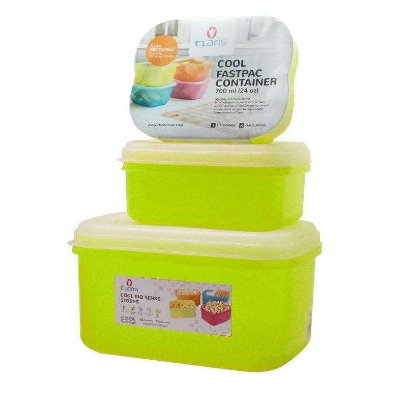 Claris Paket Mantap Set 5 Pcs [Tempat Makan/ Kulkas organizer / tempat penyimpanan makanan