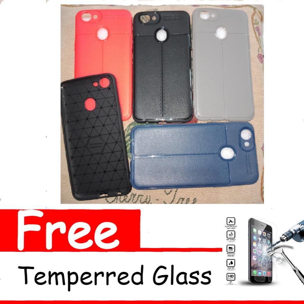 Softcase Case Premium Silicon Auto Focus For Oppo F5 Free Temperred Glass