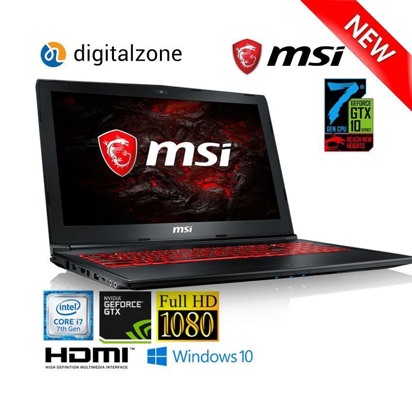 MSI GL62M 7RDX - I7 7700HQ - 8GB - 1TB - GTX1050 4GB - W10 - 15.6 FHD