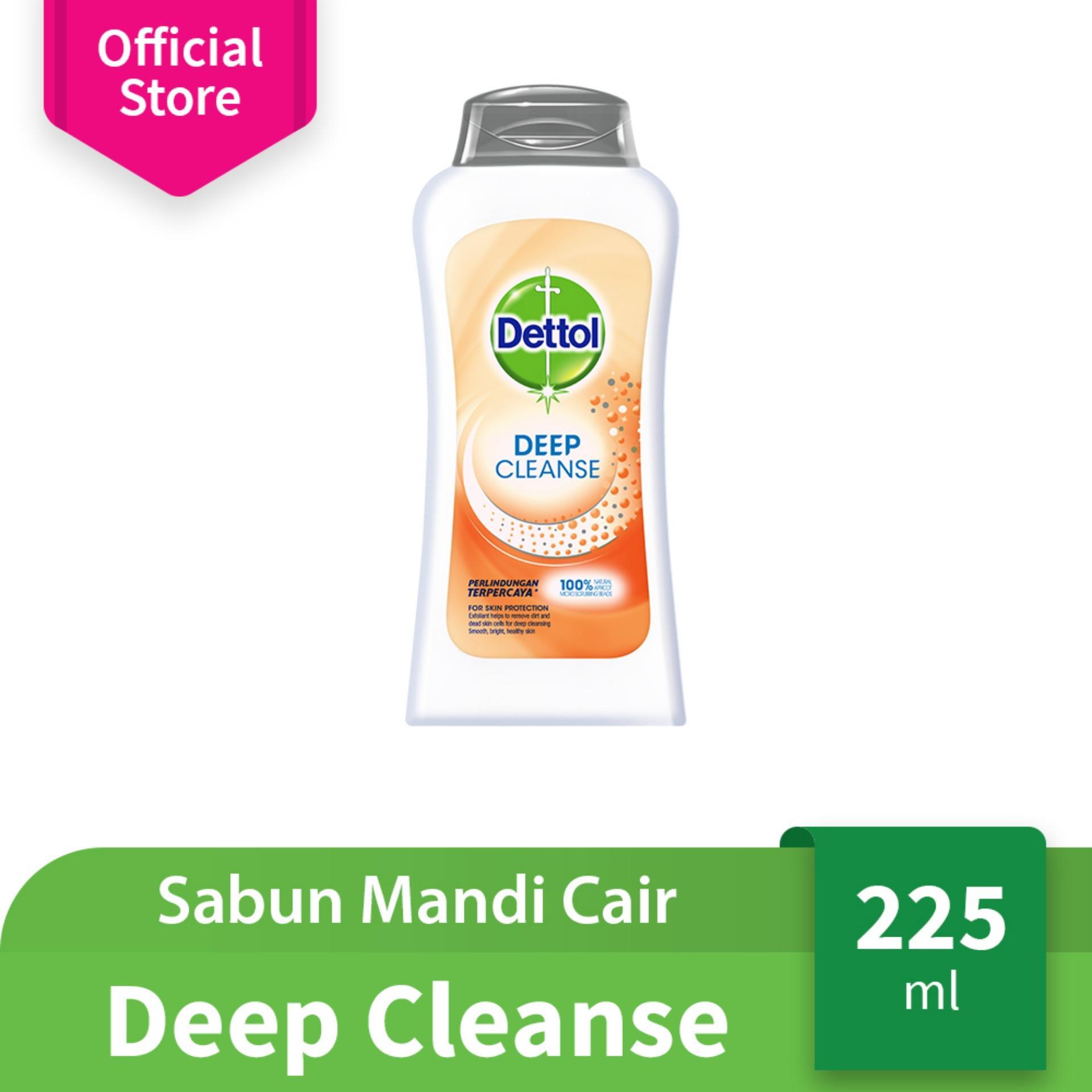 Dettol Sabun Mandi Cair Deep Cleanse Bottle 225ml Body Wash Anti Kuman