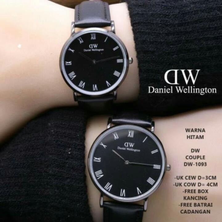 Jam Tangan Fashion Pria Dan Wanita/Couple Leather Strap
