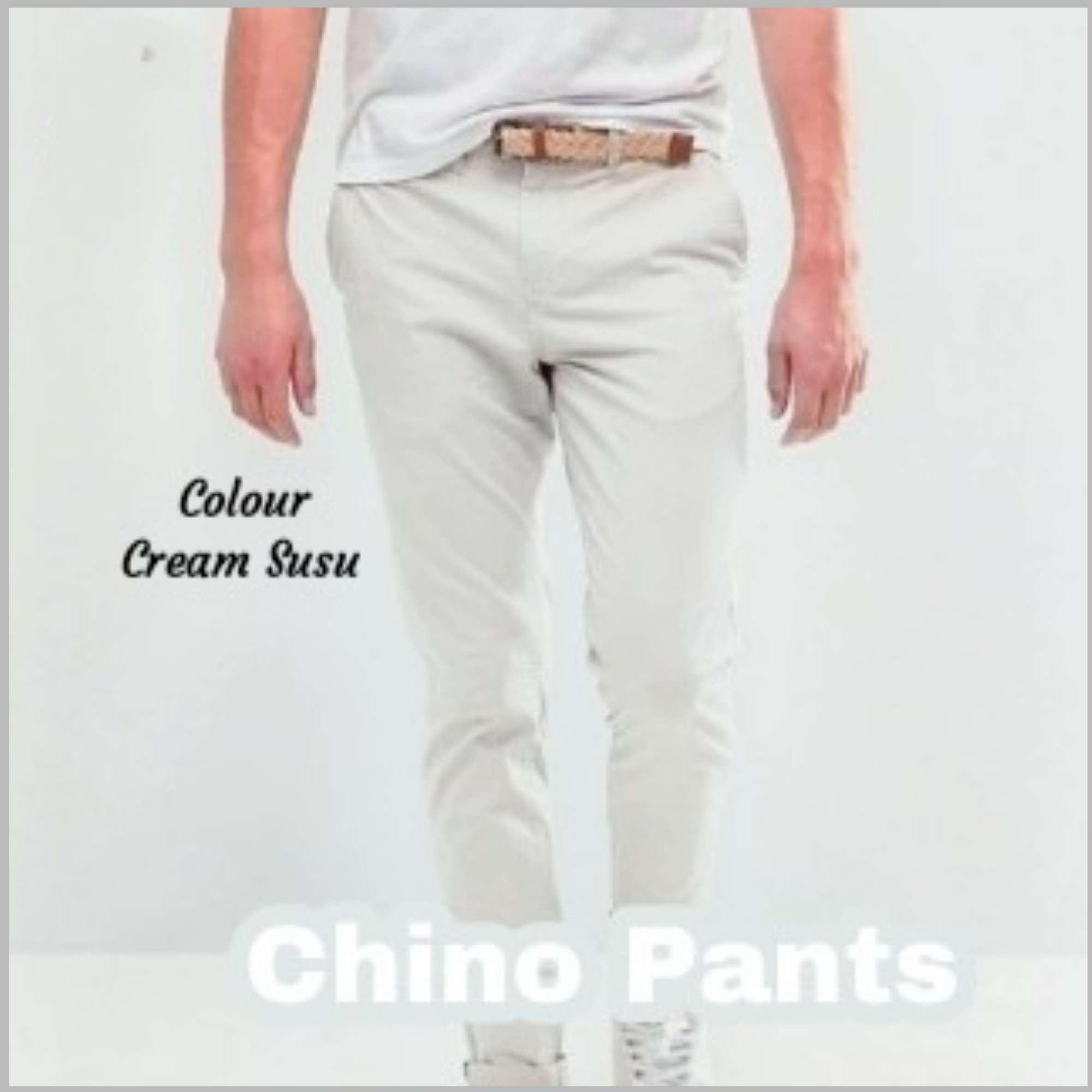 Authentic Denim CHINO PANTS Cream Susu