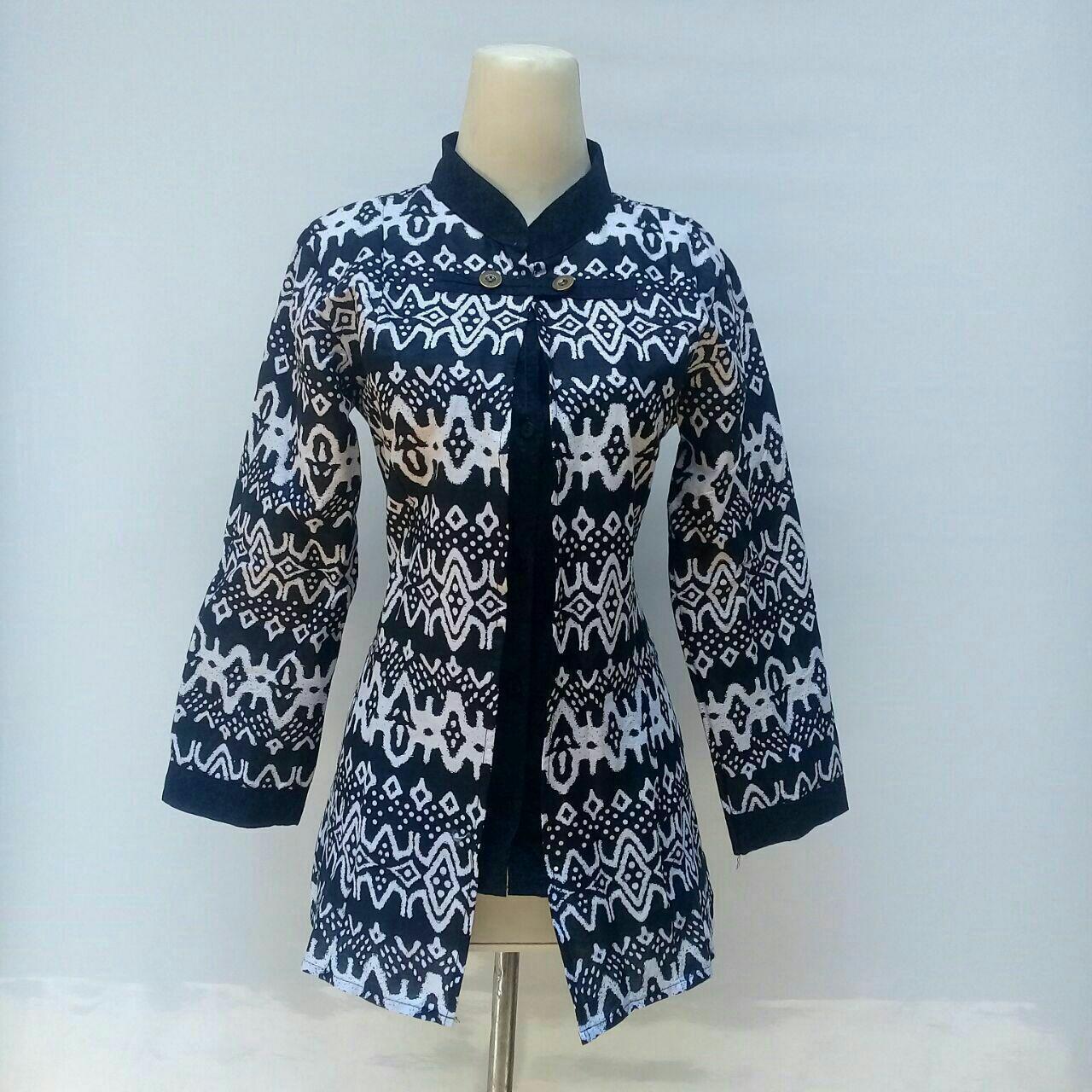 Diskon Besar Blouse Batik Wanita Atasan Batik Wanita Modern Baju ... 63e94fc2d7