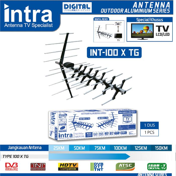 Antena TV Outdoor Digital INTRA INT-100X TG Best FOR LCD & LED TV