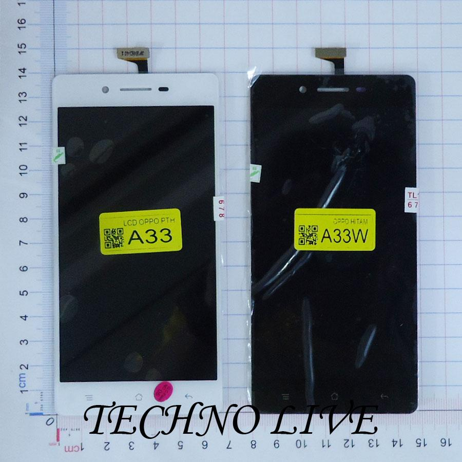 Kelebihan Lcd Oppo A33 A33w Neo 7 Fullset Hitam Genzatronik Terkini Fuze Anti Crack Case F3 Putih Detail Gambar Terbaru