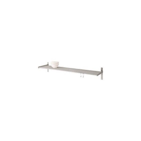 Jual IKEA GRUNDTAL Wall Shelf - Rak Dinding - Stainlees Steel- 80Cm RZ
