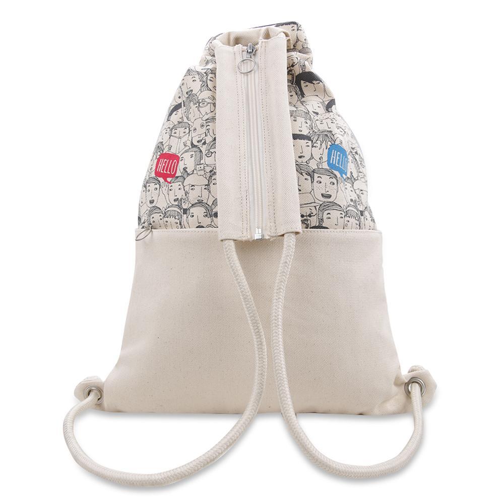 ... Exsport Lit Drawstring Bag - Cream - 3 ...