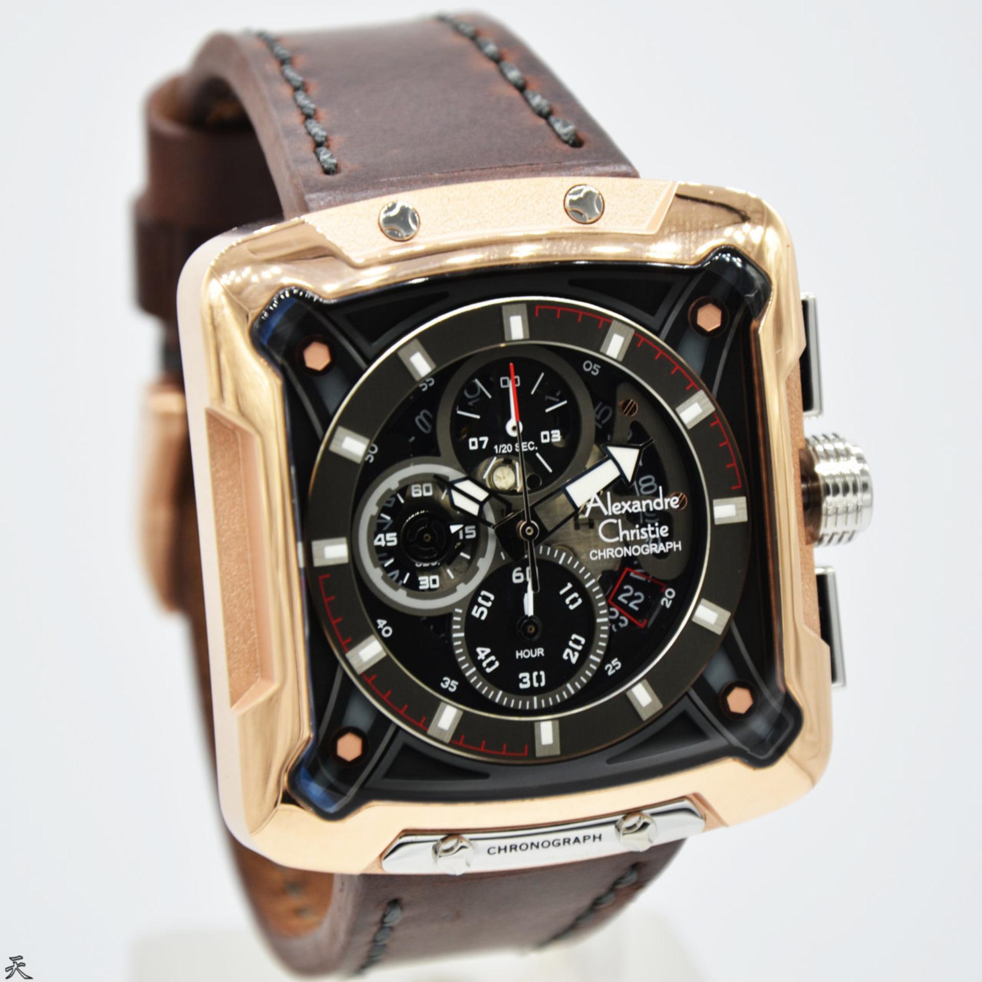 Kehebatan Alexandre Christie Ac 6270 Brown Rose Jam Tangan Pria 6441 Gold Original Ac3030 Kulit Dark