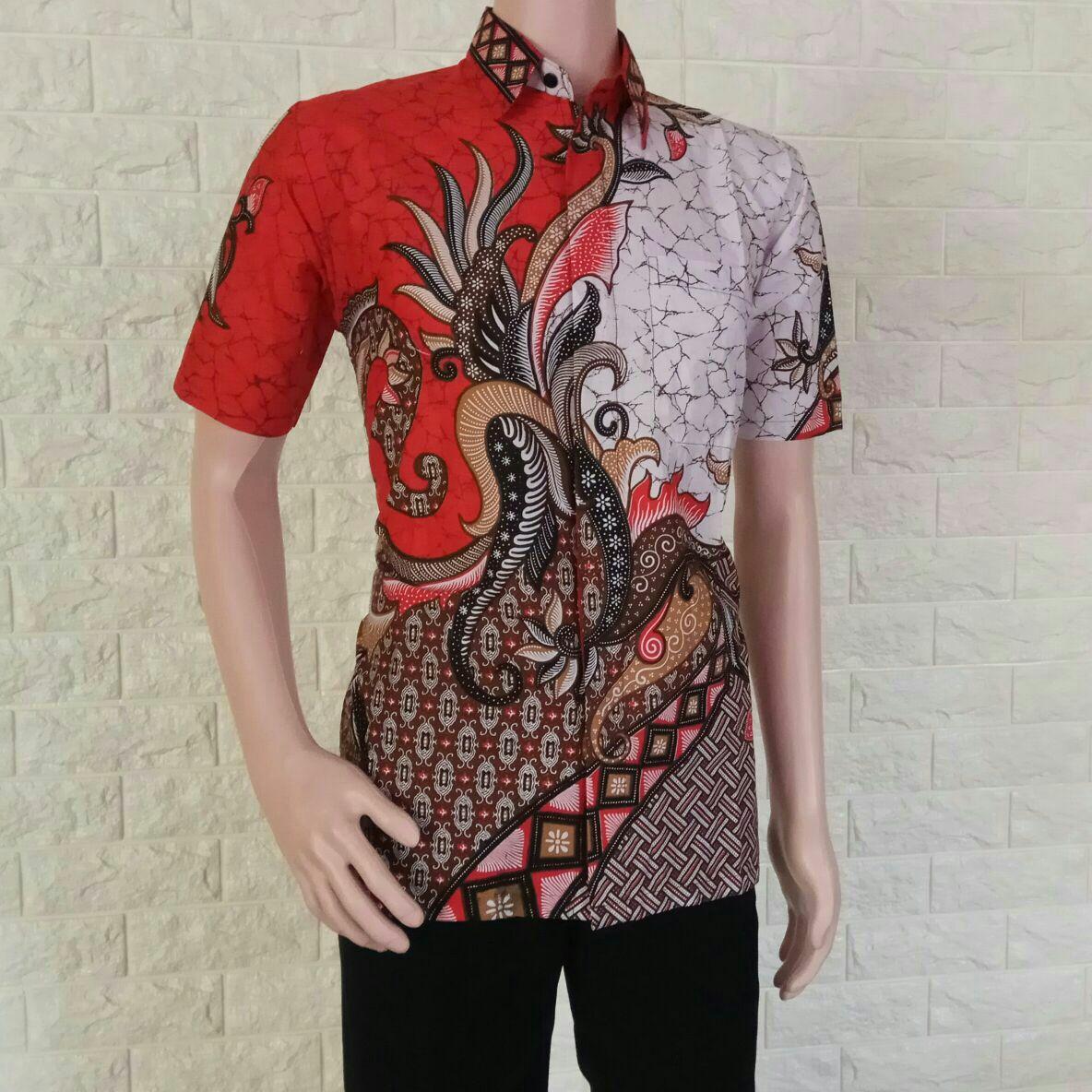 Cek Harga Baru Kemeja Batik Pria Modern Kombinasi Model Baju Batik