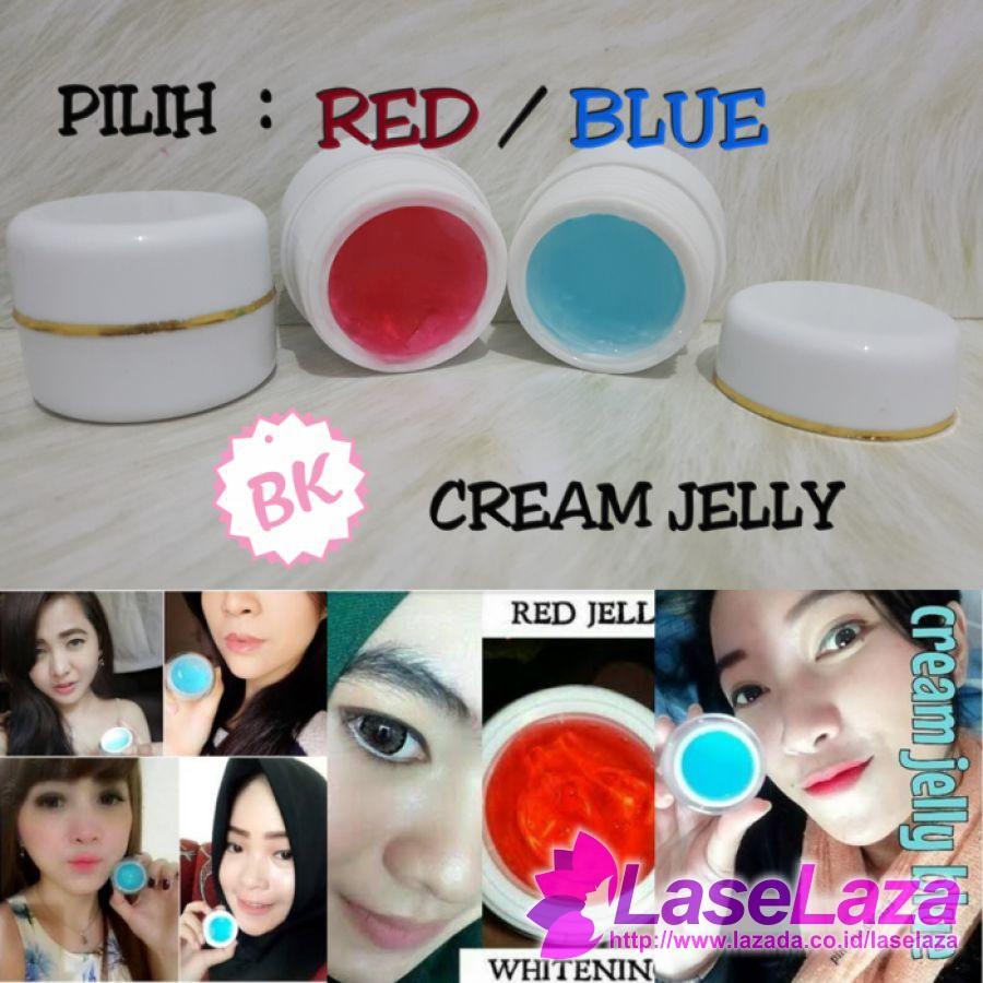 Cream Jelly Glowing Vitamin Red Jell - Blue Jell Krim Wajah Paling Laku