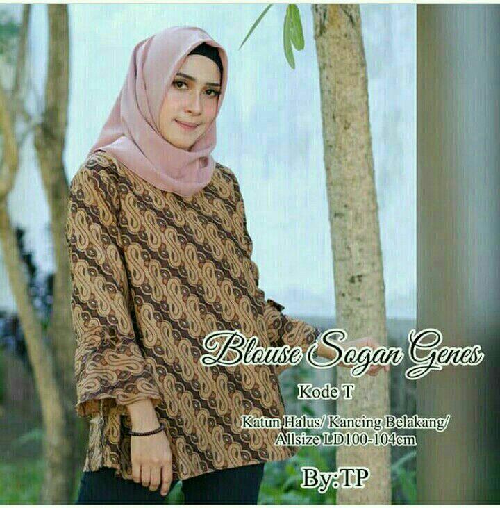 Atasan Batik Wanita Blouse Batik Seragam Kantor Baju Guru Modern