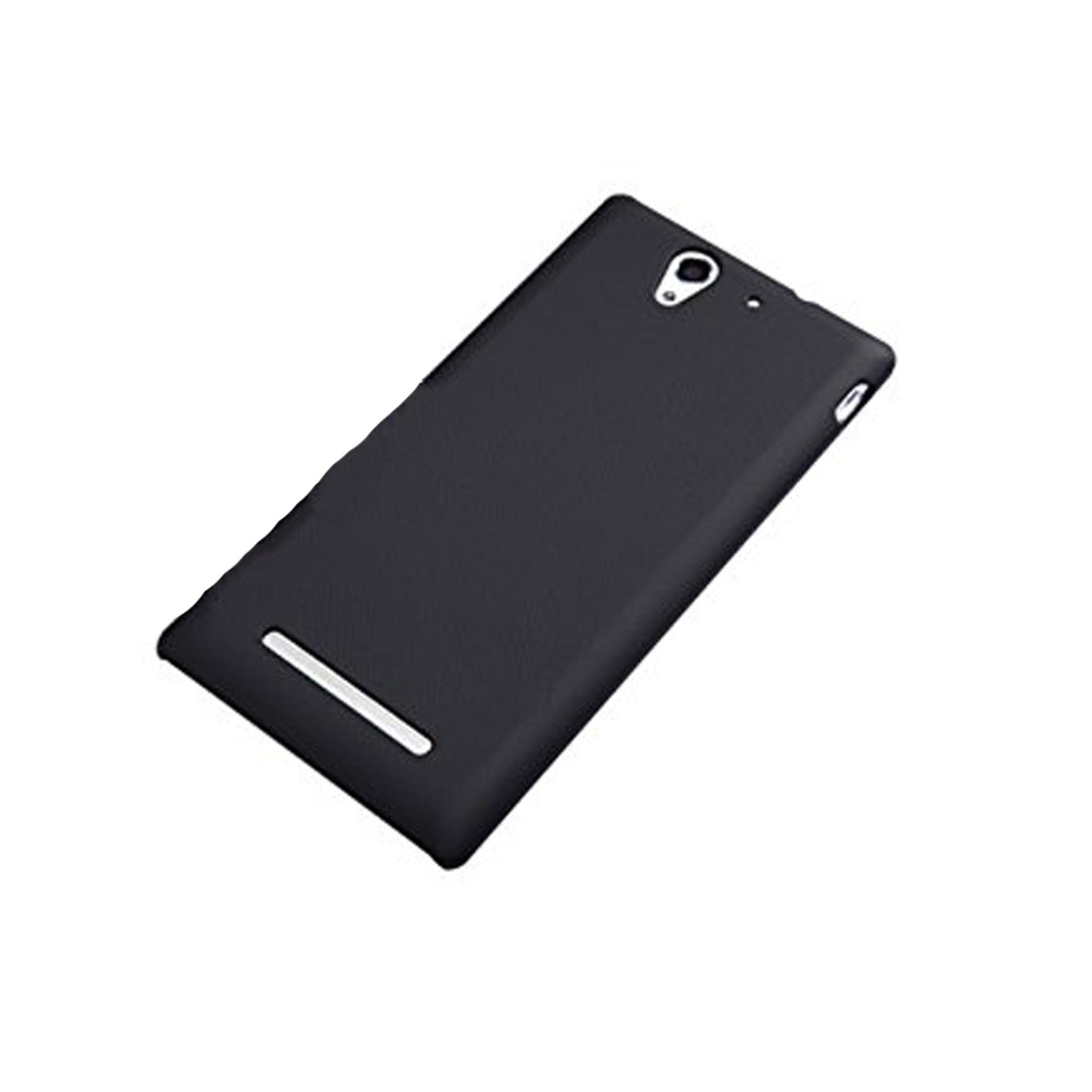 Case Slim Black Matte Sony Experia C3 Baby Skin Softcase Ultra Thin Jelly Silikon Babyskin