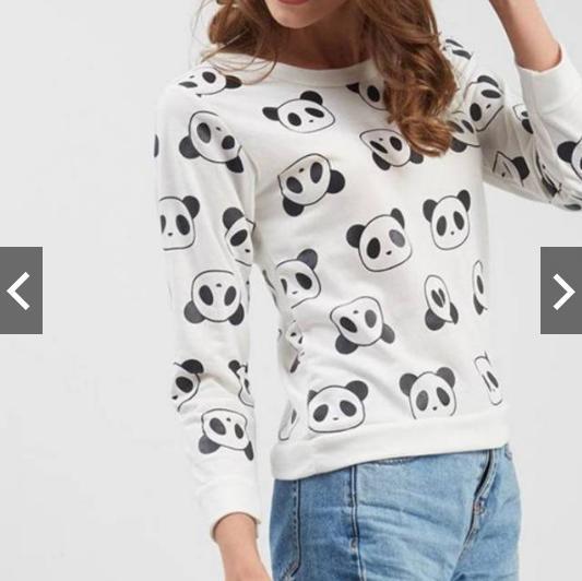 MichelleStore Sweater Wanita All Cute Panda - White