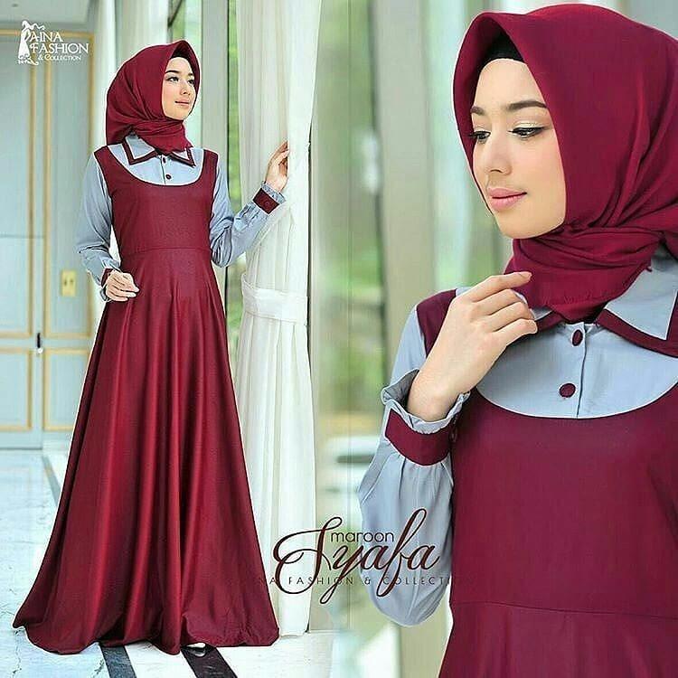 Gamis Syafa Dress Balotelly Baju Wanita Panjang Muslim Casual Wanita Pakaian  Hijab Modern Baju Gaun Pesta de6d19f4cb