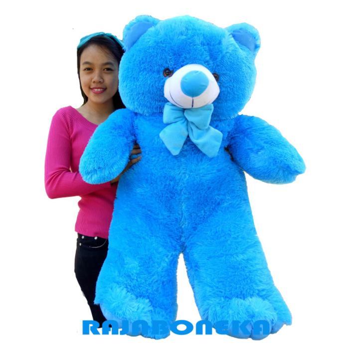 Boneka Beruang Teddy Bear Jumbo 1 Meter Biru - mainan anak   mainan anak  perempuan   498385a0cf