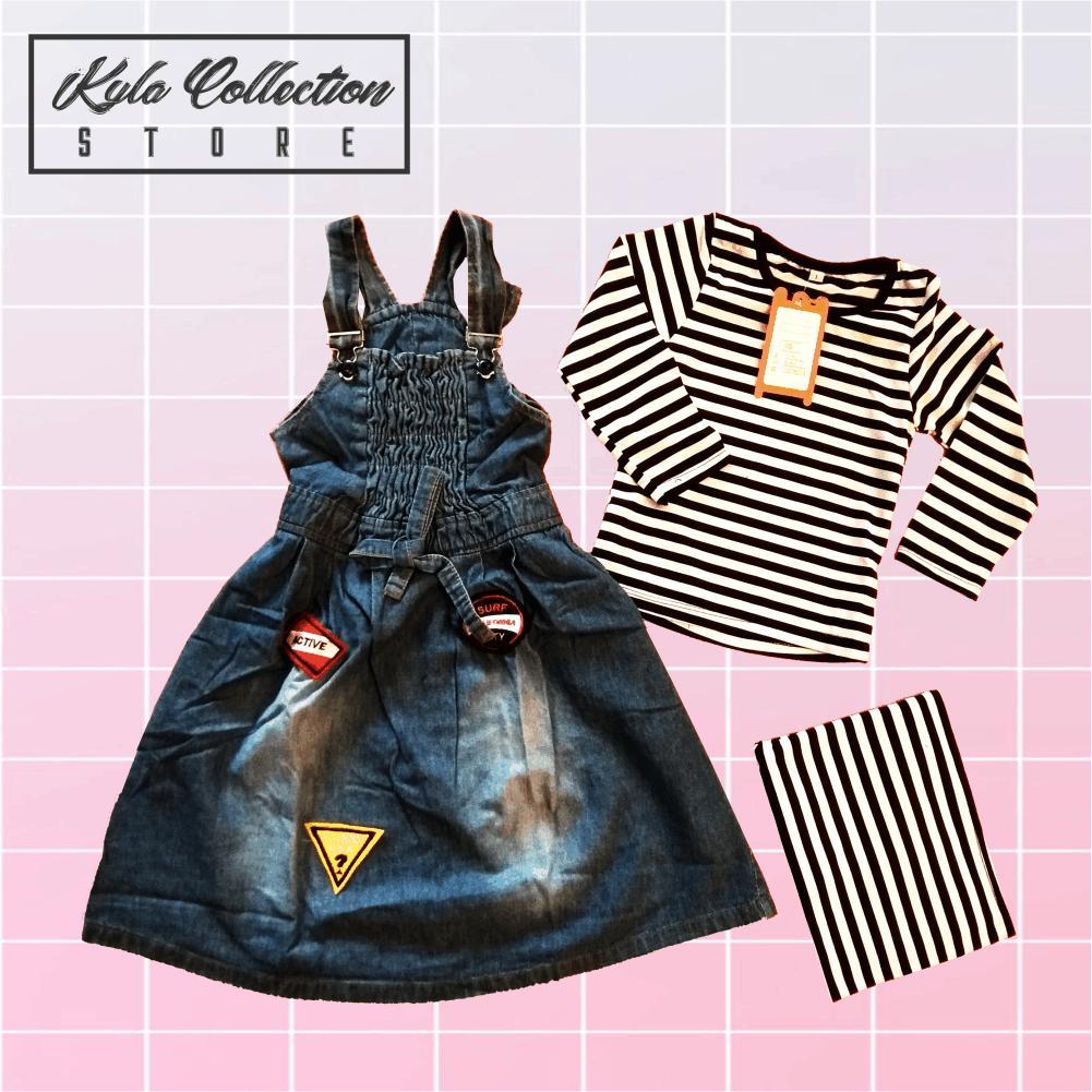 Features Setelan Baju Muslim Gamis Jeans Anak Perempuan Dress Lucu Flower Import Detail Gambar Unik Branded Via 128 Terbaru